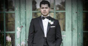 Peak slim-fit tuxedo. Photo: ImageMakers